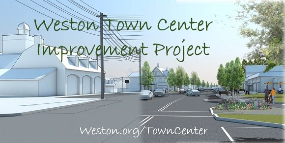 town center improvement project before and after