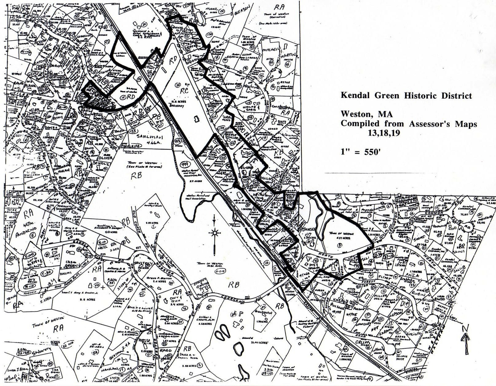 Kendal Green Historic District Map