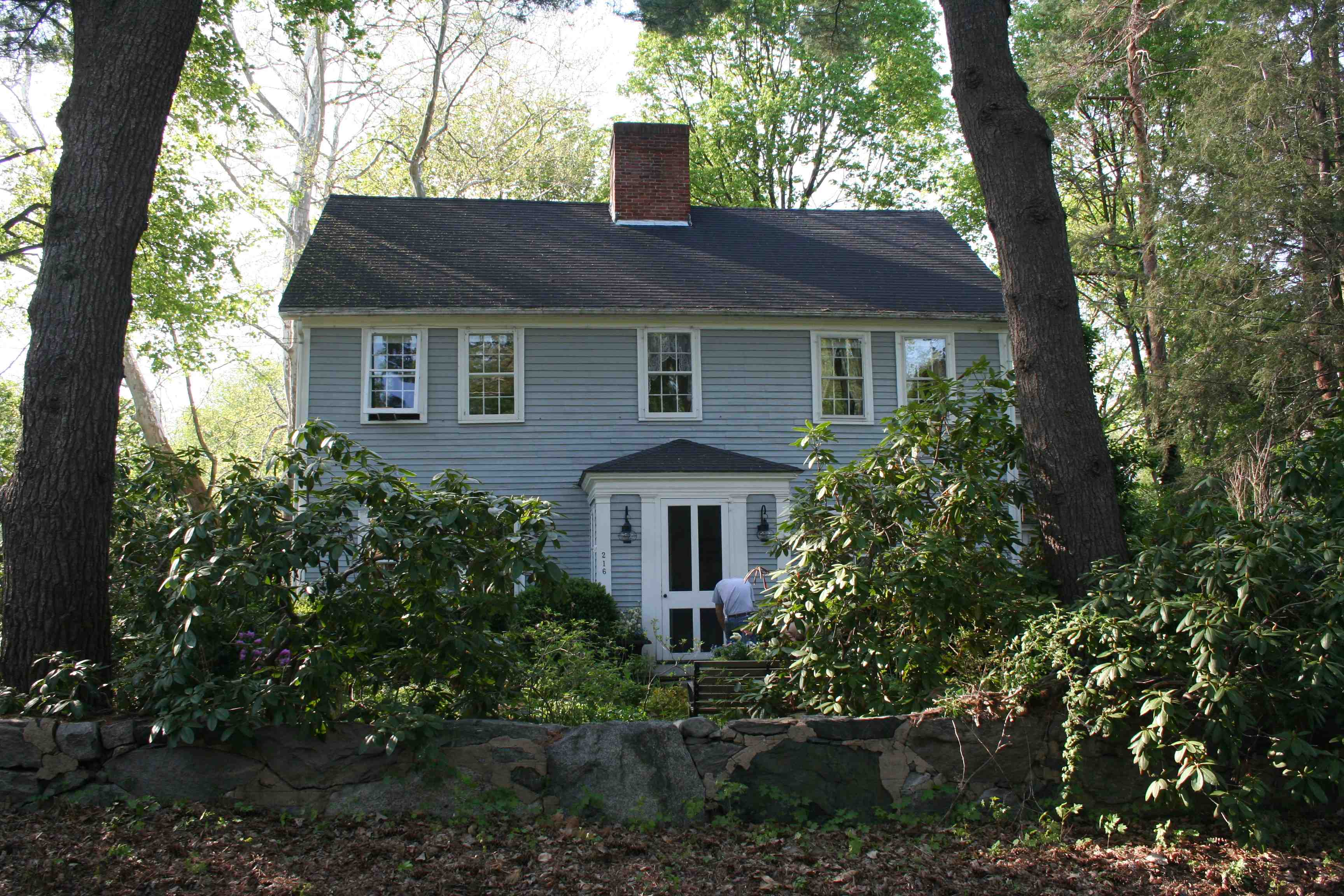 216 Conant Road is the oldest house in the area