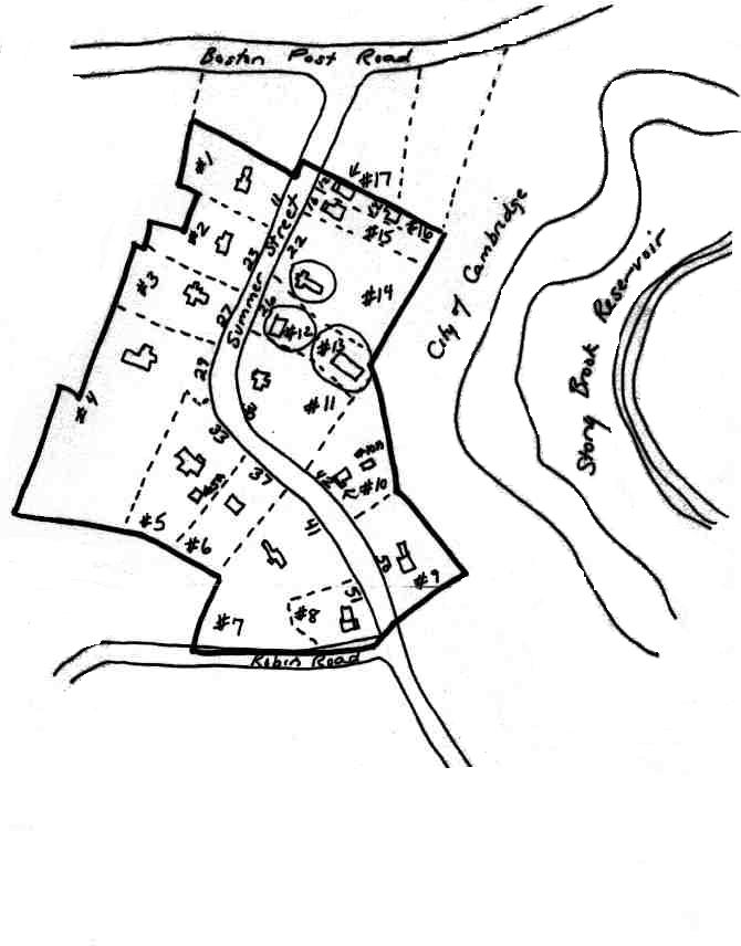 A sketch map of the Summer Street Area