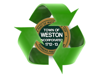 recycling symbol with town logo