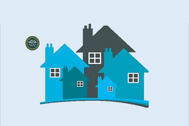 clipart of a group of houses