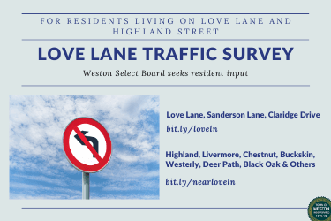 love lane traffic survey announcement