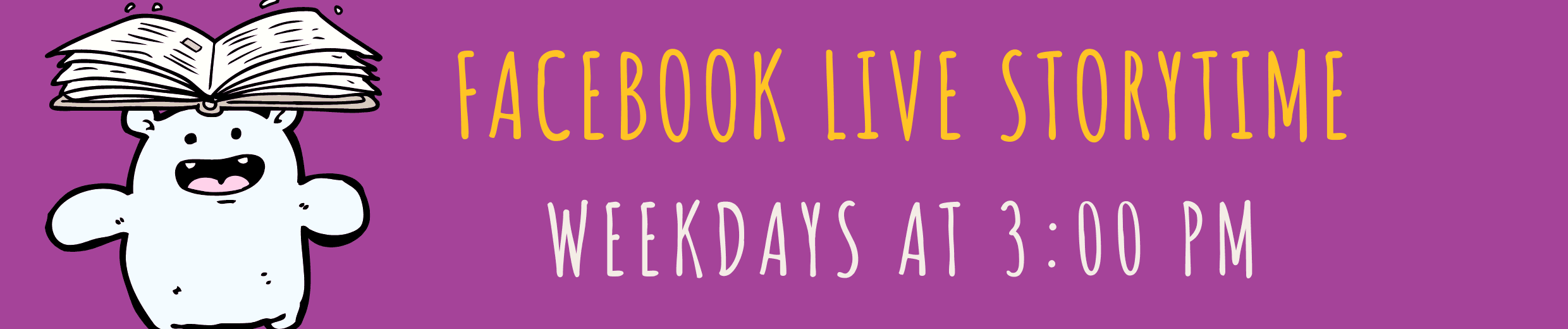 web facebook storytime daily on facebook live at 3 PM